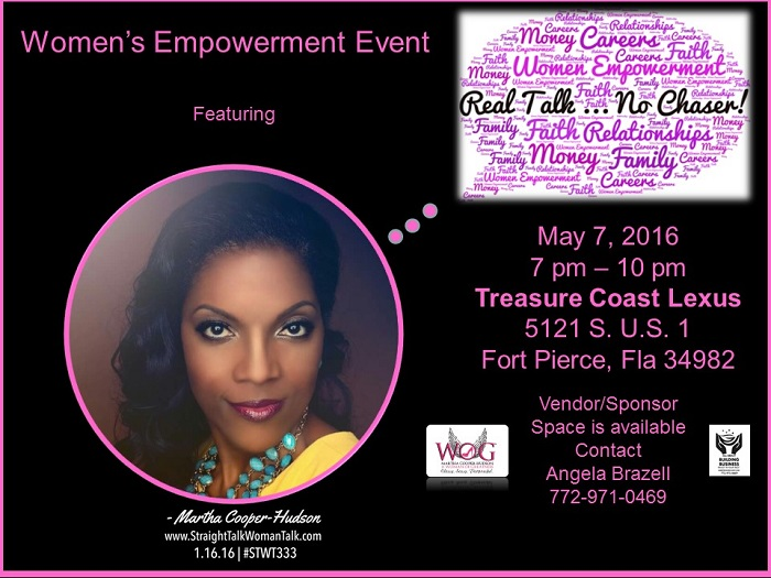 women 39 s empowerment event real talk no chaser. Black Bedroom Furniture Sets. Home Design Ideas