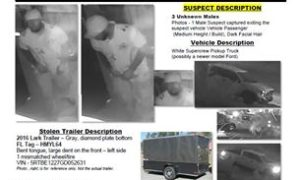 PSLPD investigating Trailer Theft