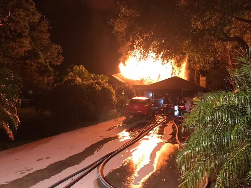 Fire destroys Grant-Valkaria home