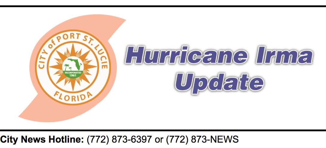 City of Port St. Lucie Advisory on Hurricane Irma # 9