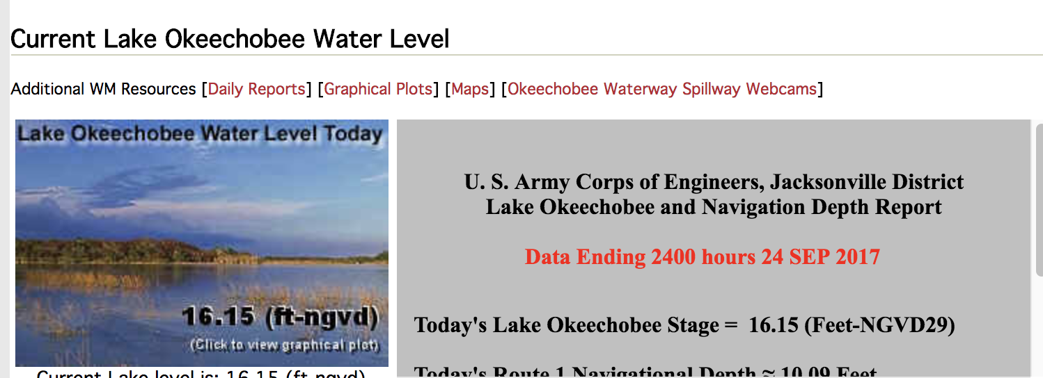 Water continues to rise in Lake Okeechobee