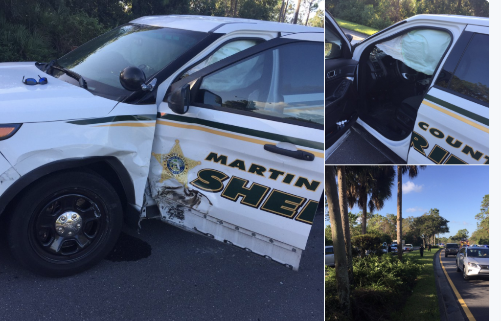 Two Martin County Sheriff's injured after crash
