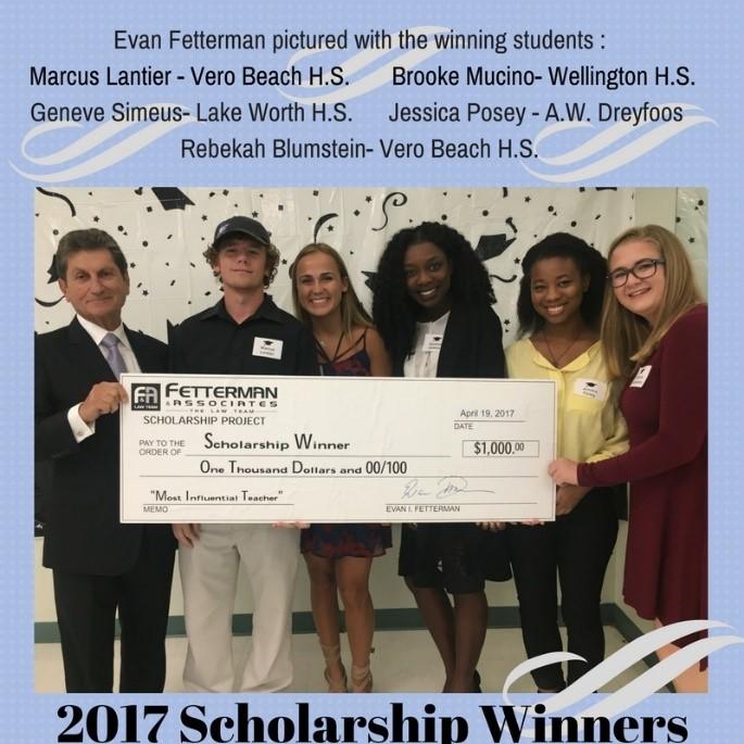 Win a $1000 Scholarship from Fetterman & Associates!