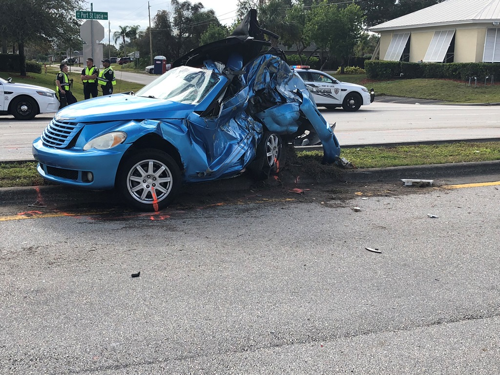 Attractive PSLPD Investigating Early Morning Fatal Traffic Crash On SW Port St. Lucie  Blvd
