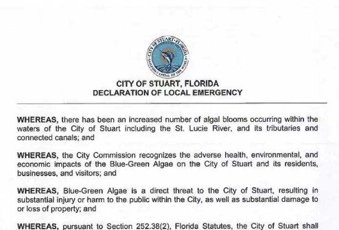 Stuart mayor declares local state of emergency