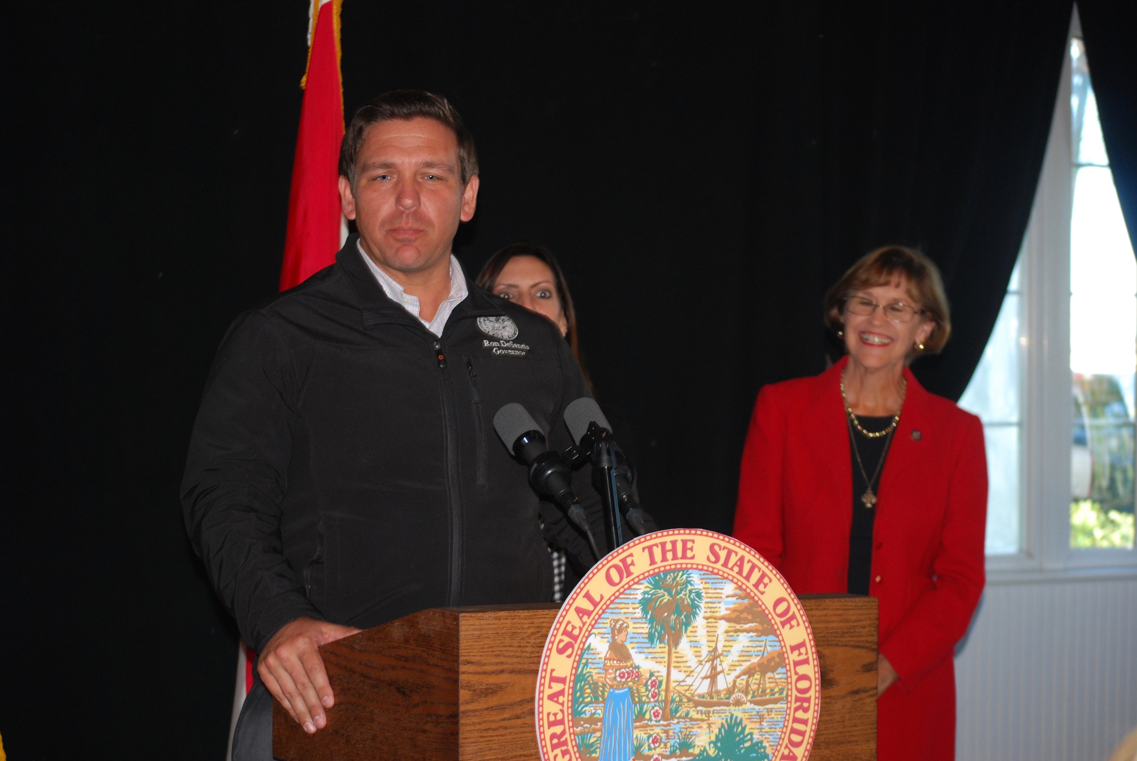 "Ron Desantis to us ""Buckle up!"" and asks entire SFWMD board to resign"