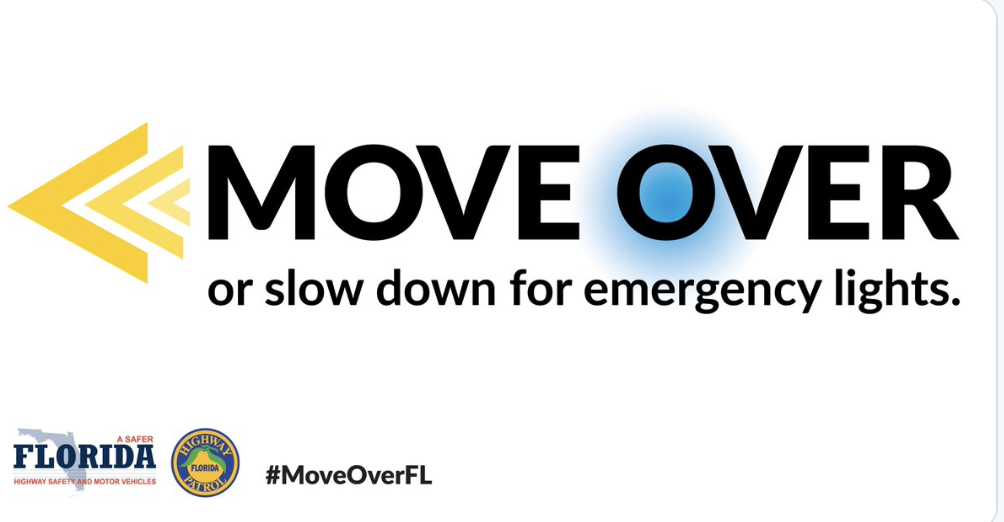 WHEN YOU SEE FLASHING LIGHTS, MOVE OVER, FLORIDA, IT'S THE LAW