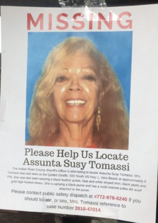 IRCSO asks for your help on the one year anniversary of the disappearance of Susy Tomassi