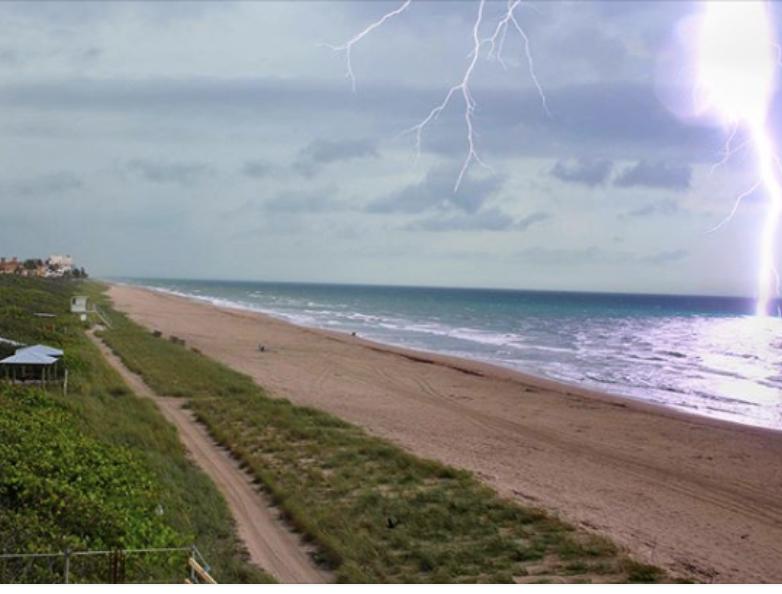 Jensen Beach Webcam struck by lightening
