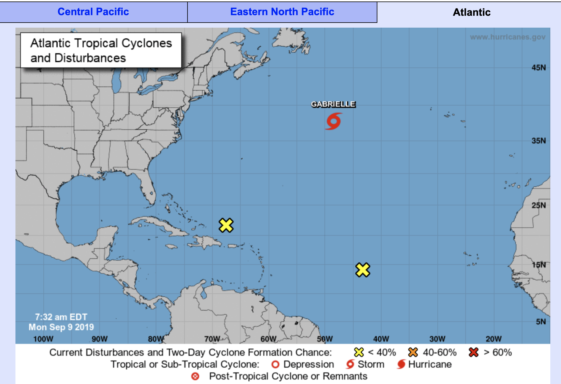 Two areas of concern in the Tropics