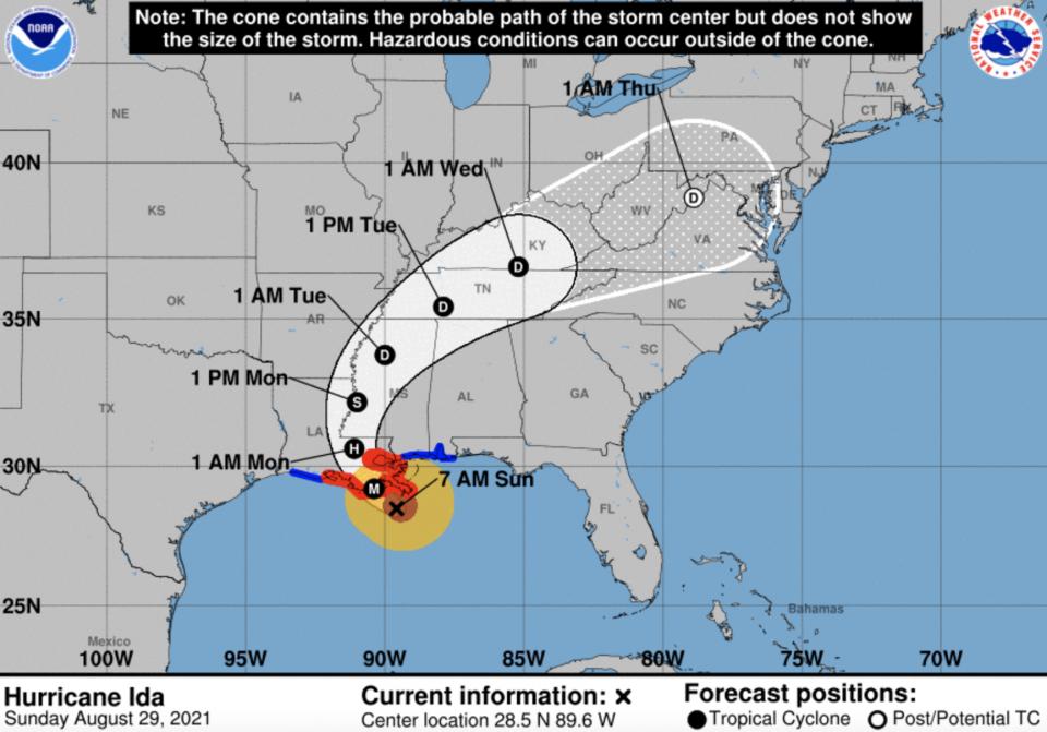 Hurricane Ida maintains 150 mph winds as it nears Louisiana coast
