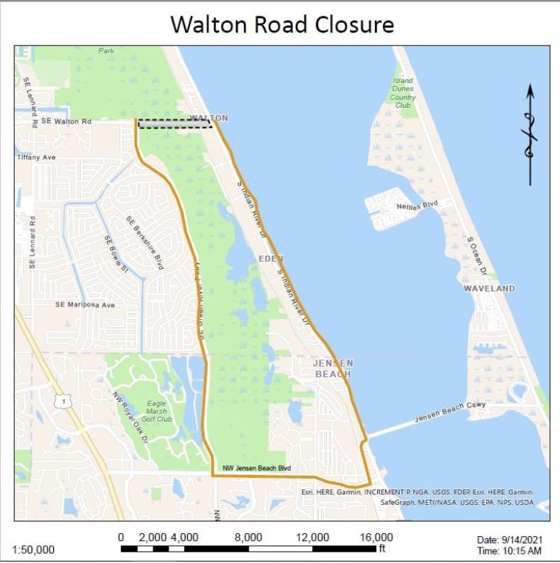 Walton Road Closure Sept. 29 – Oct. 13