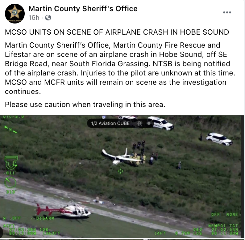 Plane crash in Hobe Sound under investigation