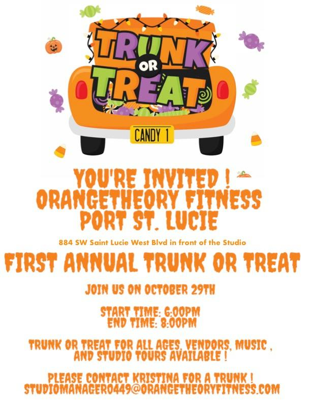 Trunk or Treat at Orangetheory Fitness Port St. Lucie