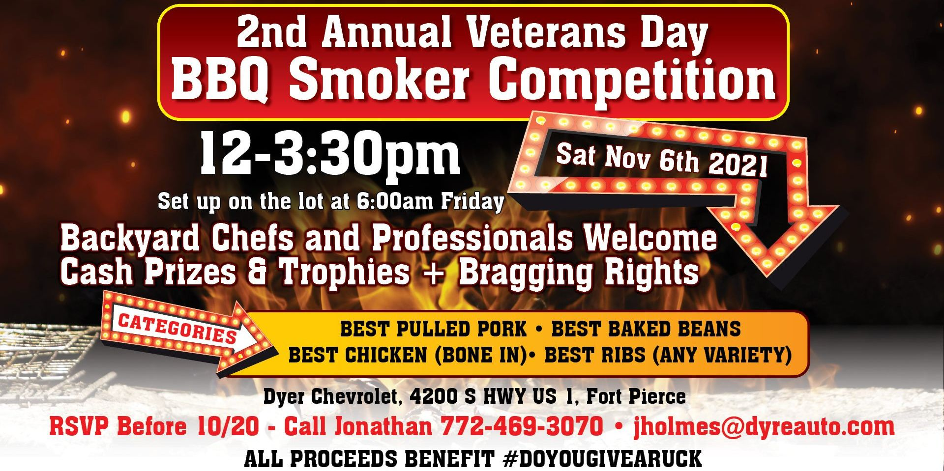 2nd Annual Veterans Day BBQ Smoker Competition