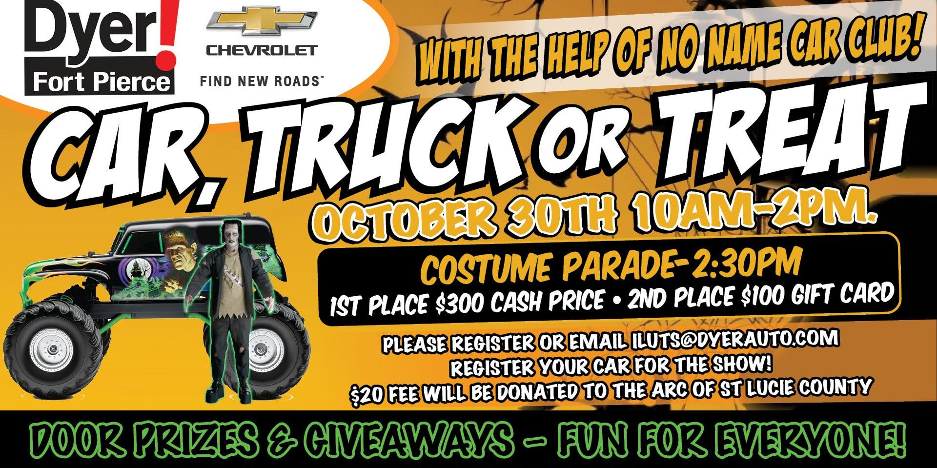 CAR show, TRUCK or TREAT